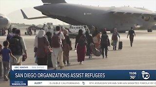 Local organizations help Afghan refugees