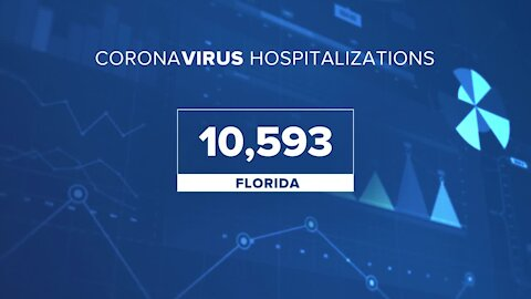 Florida breaks record with 10,593 COVID-19 hospitalizations