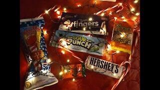 Tasting Christmas candy
