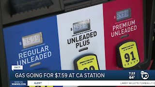 Fact or Fiction: CA gas station charges $7
