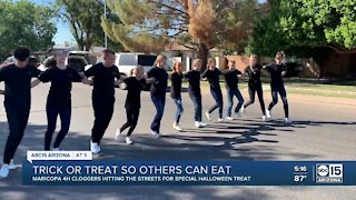 Maricopa 4-H Cloggers dancing, collecting food donations to support the community