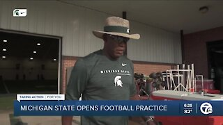 Michigan State opens football practice