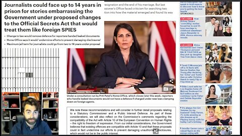 'Public Interest' To Be Dictated By UK Elites - 14 Years Imprisonment For Embarrassing Government!