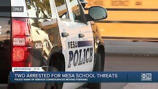 Two teens charged after making false threats at Mesa high schools Friday