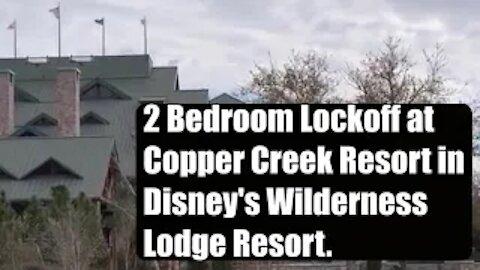 Copper Creek 2 bedroom lock off.