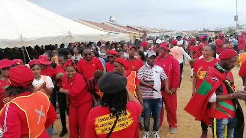 EFF leader Julius Malema arrives in Kayamandi