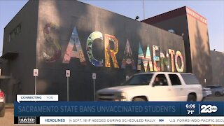 Sacramento State bans unvaccinated students