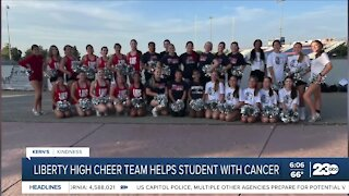 Kern's Kindness: Liberty High cheer team helps student with cancer