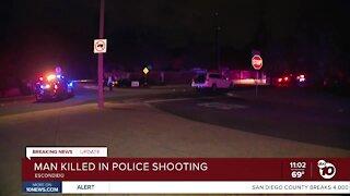 Man killed in Escondido Police shooting