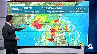 Tropical Storm Fred makes landfall in Florida Panhandle; Henri forms near Bermuda