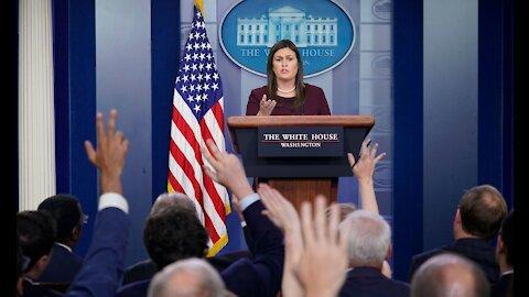 El día que los medios quedaron afuera de la Casa Blanca por 'culpa del distanciamiento social'