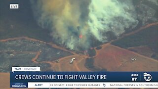 Crews continue to fight Valley Fire