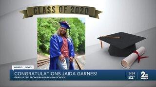 Class of 2020: Jaida Garnes