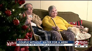 Couple without water for a week