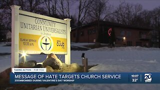Message of hate targets Brighton church service