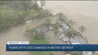 Fears of flood damage in metro Detroit