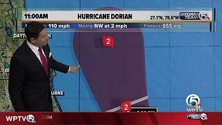11 a.m. Tuesday Dorian update