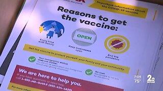 Vaccine education truck driving around Baltimore to address inequity, hesitancy