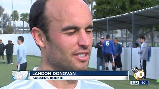 Landon Donovan's first practice with Sockers