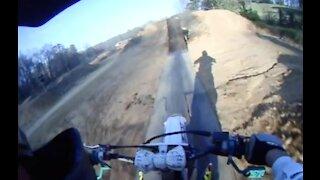 POV backflip Crash on dirtbike.