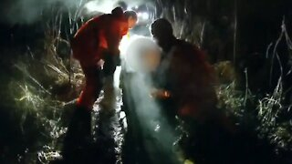 New Jersey State Police rescue boy stuck in frigid marsh