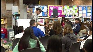 Students help veteran take honor flight