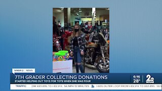 7th grader collecting donations