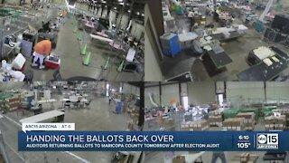 Auditors to return ballots to Maricopa County Thursday