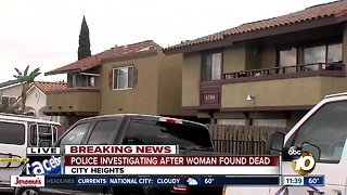 Woman found dead in City Heights home