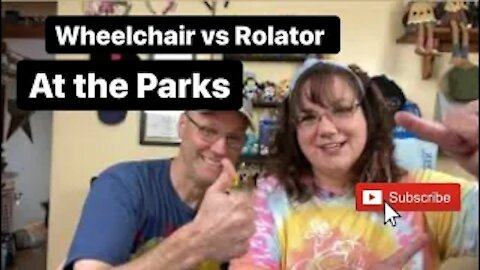 A Wheelchair VS Rollator comparison for the parks.