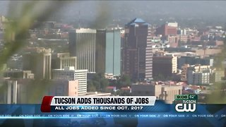 Tucson adds thousands of jobs