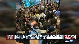 Social distancing concerns at Papillion La Vista South