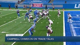 Lions head coach Dan Campbell chimes in on Matthew Stafford trade talks