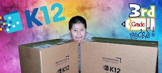 3rd Grade K12 Home School Unboxing Supplies Kit 2021