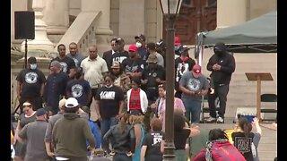 Protest against hate held in Lansing on Thursday morning