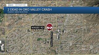 Deputies arrest 1 person, 2 people die in crash near Oro Valley