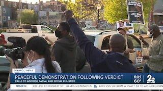 Peaceful demonstration following verdict