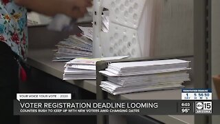 Voter registration deadline looming