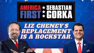 Liz Cheney's replacement is a rockstar. Rep. Matt Gaetz with Sebastian Gorka on AMERICA First