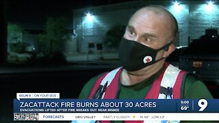 Evacuations lifted after ZacAttack Fire sparks near Bisbee, one person reportedly in custody