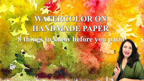 Wet-on-wet landscape on handmade watercolor paper: 8 tips before you paint