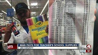 Man Pays for teacher's school supplies