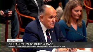 Rudy Giuliani appears in front of Michigan House Oversight Committee