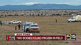 Two bodies found frozen in Ash Fork field