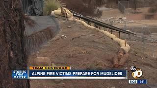 Alpine fire victims prepare for mudslides