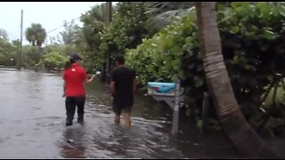 People returning to their homes in Hutchinson Island