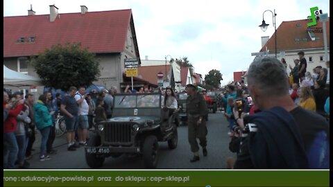 D-Day Hel AD 2021 dzień 2 i 4, parada motocykli, samochodów i pojazdów niemieckich oraz alianckich