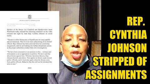 Rep. Cynthia Johnson Stripped of Duties