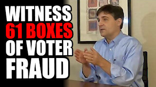 Former State Senator WITNESSES 61 Boxes of Voter Fraud at TCF Center Dump