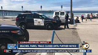 City shuts down beaches, parks, trails